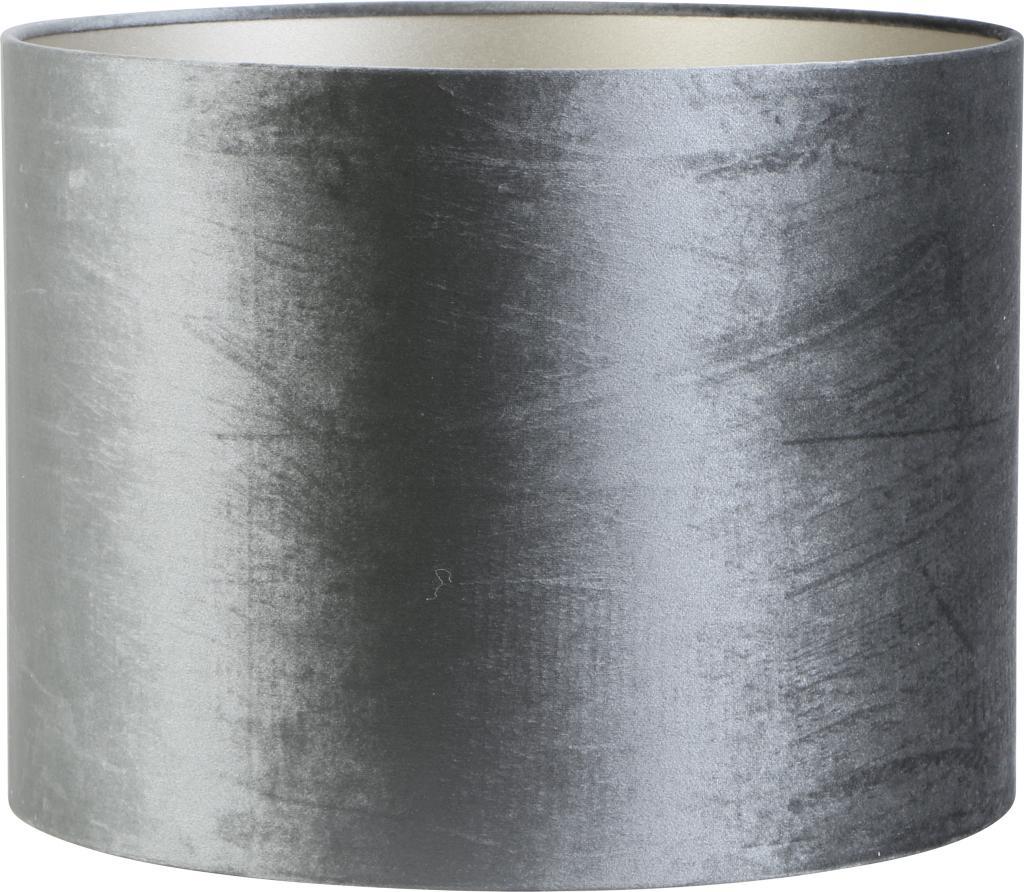Lampenschirm Zylinder 25 25 37 Cm Zinc Graphite Light Living